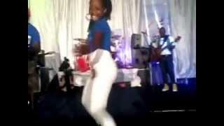 Girl dances at Zahara and Tuku show in Harare