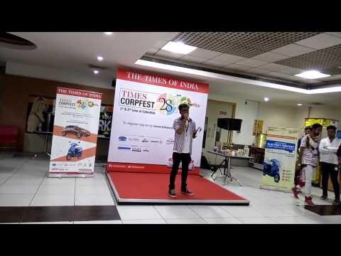 Ye Reshmi Zulfe @ Times Corp Fest Audition along with my shayari