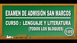 SOLUCIONARIO UNMSM 2018-I : LENGUAJE Y LITERATURA(TODOS LOS BLOQUES) - DECO - ADMISIÓN SAN MARCOS