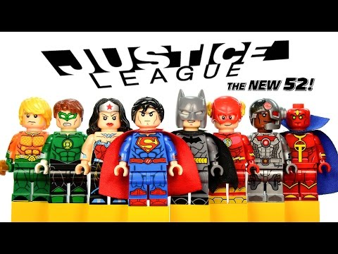LEGO Justice League New 52 DC Super Heroes KnockOff Minifigures w/ Batman Superman & Wonder Woman