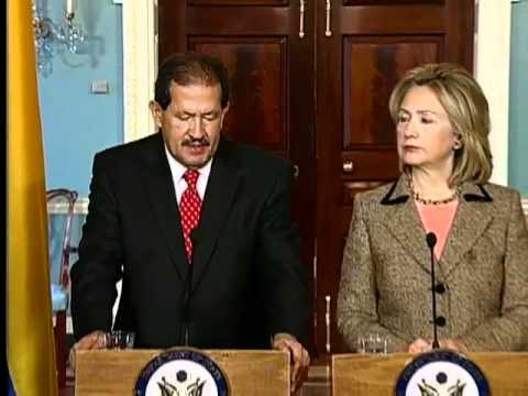 Secretary Clinton Holds a Bilateral Meeting With Colombian Vice President Garzon