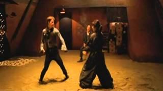 Bunraku: Main Characters throw down