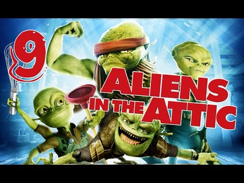 Aliens in the Attic Walkthrough Part 9 (PS2, Wii, PC) Movie Game - Level 09 -