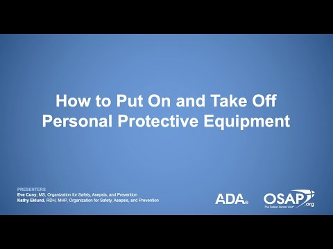 How To Put On And Take Off Personal Protective Equipment