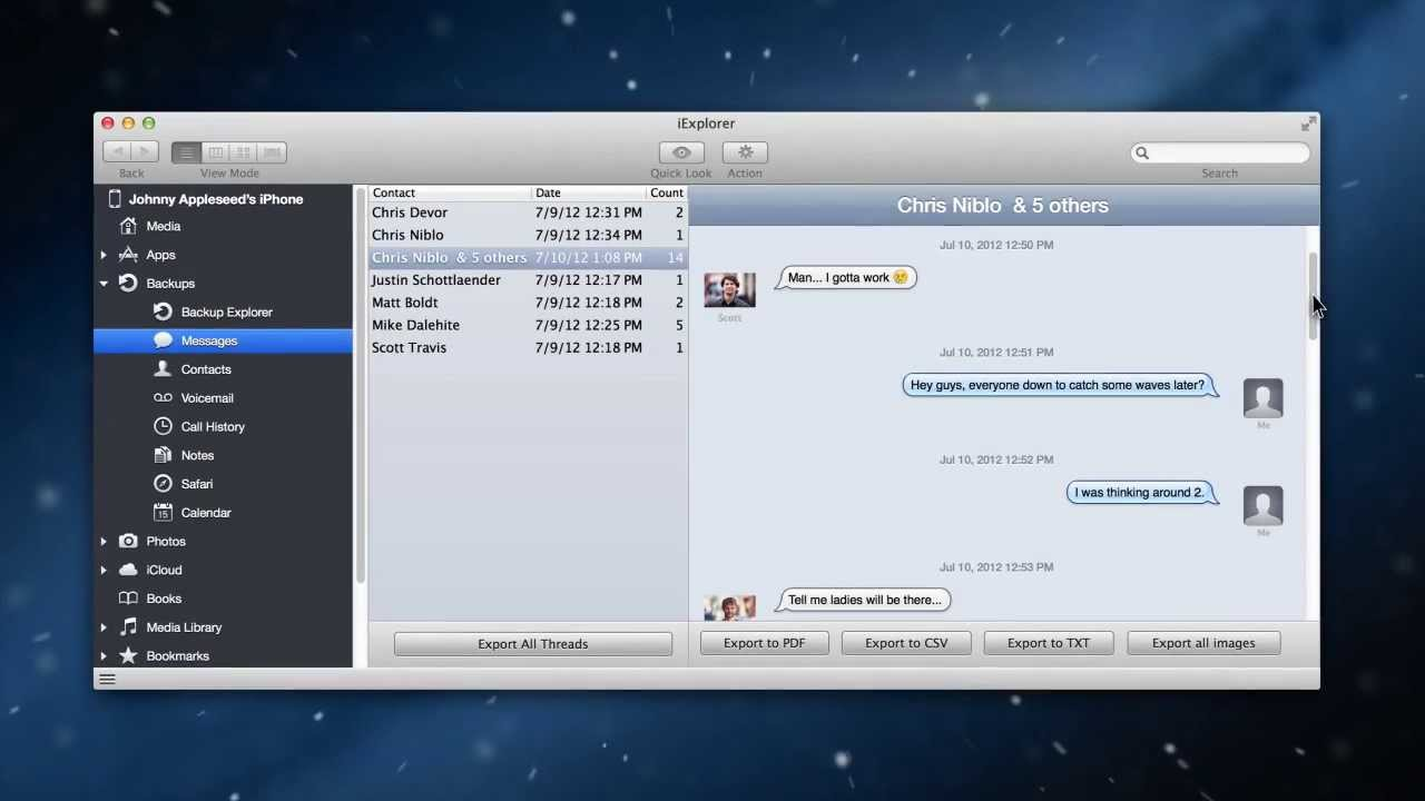 Export iPhone SMSs, Text Messages, Voicemails, Contacts, and Voice Memos to  Computer