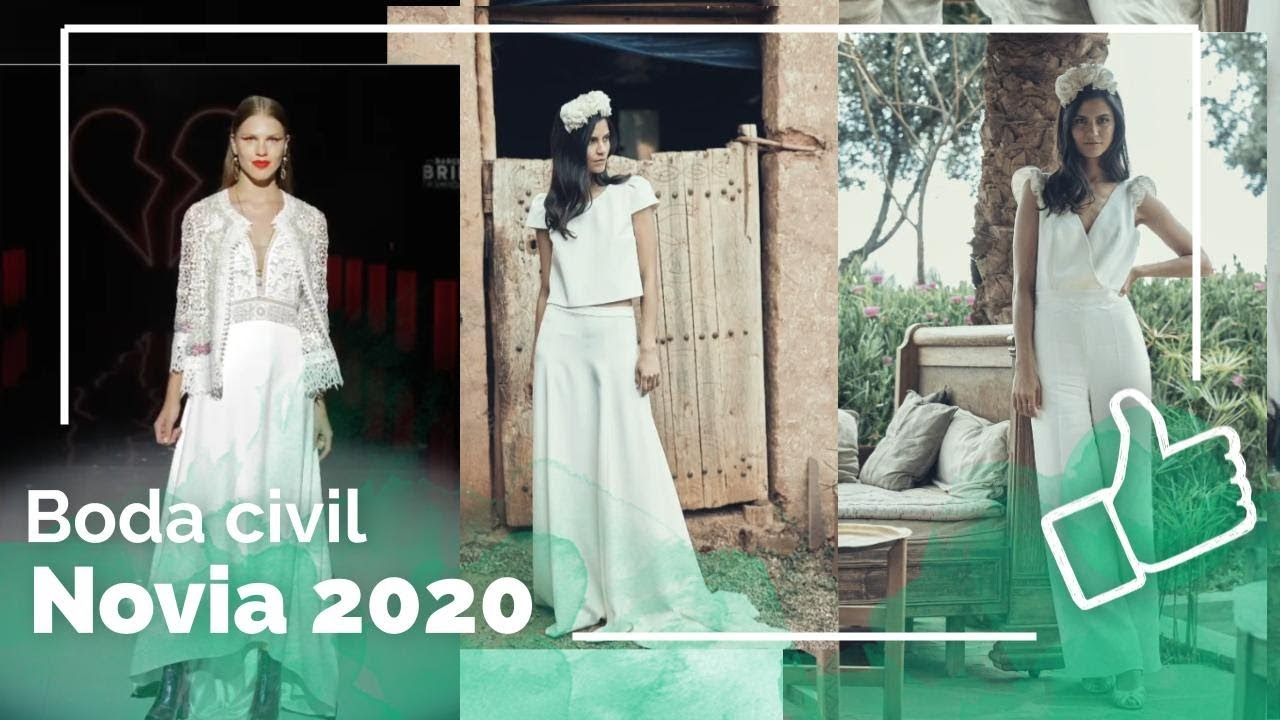 Vestidos De Novia 2020 Boda Civil Youtube