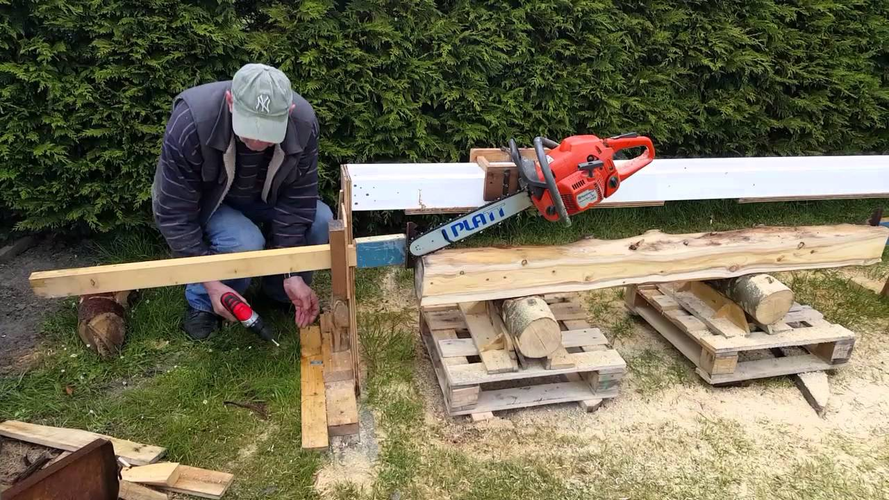 Homemade Chainsaw Mill Youtube