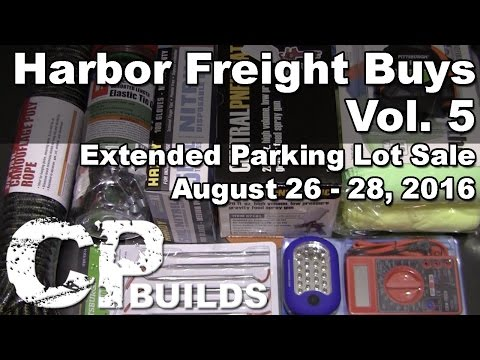 Harbor Freight Buys Vol. 5 - Extended Parking Lot Sale