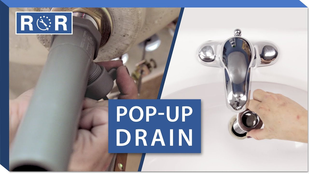 How To Install A Pop Up Drain In A Bathroom Sink Repair