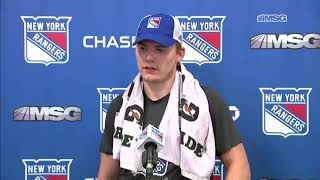 Lias Andersson Ready to Make an Impression at Prospect Camp | New York Rangers | MSG Networks
