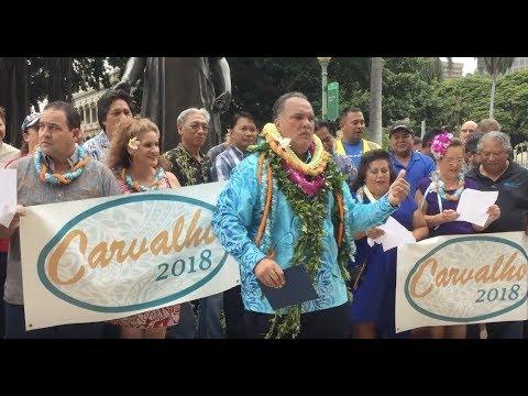 Bernard Carvalho, Jr. Serenaded After Lt. Governor For Hawaii Announcement