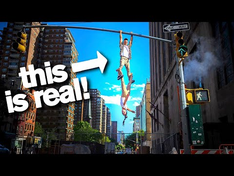 Daredevil Acrobats Will Hang Off Anything *don't try these stunts*