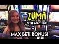 Trying ZUMA Slot Machine! Max Bet! Bonus! - YouTube