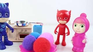 Kedi Çocuk Kertenkele Baykuş Kız Ve Masha Evcilik Oynuyor Çizgi Film