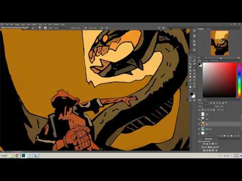 How to recreate Dave Stewart's work on Hellboy - Comic Coloring