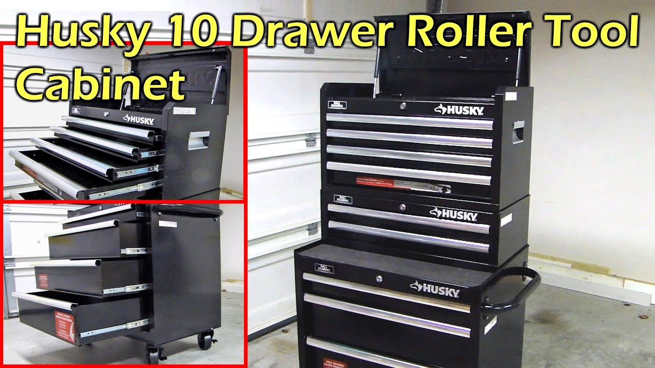 Husky 10 Drawer Roller Tool Chest Amp Cabinet Set Youtube