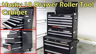 Husky 10 Drawer Roller Tool Chest & Cabinet Set