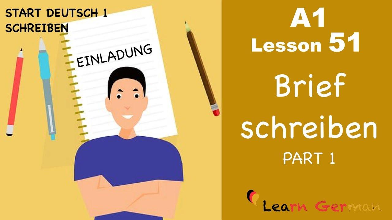 Learn German Brief Schreiben Einladung Letter Writing Invitation