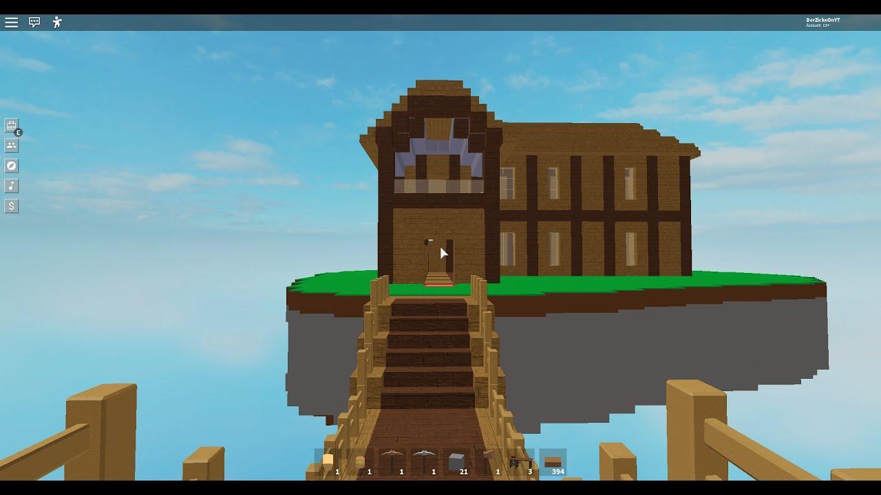 Showing My Island In Roblox Sky Block Worth Around 60 70k House