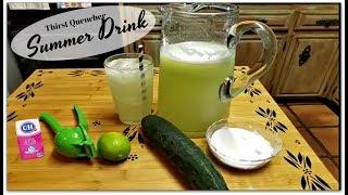 AGUA DE PEPINO | Cucumber and lime agua fresca