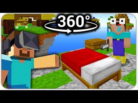 МАЙНКРАФТ 360°: НУБ на БЕД ВАРС в ВИРТУАЛЬНОЙ РЕАЛЬНОСТИ! BED WARS 3D MINECRAFT В РЕАЛЬНОЙ ЖИЗНИ! VR