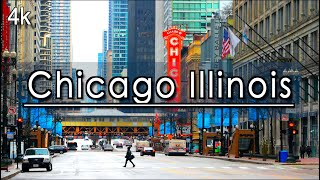 【4K】Downtown Chicago Illinois Walking Tour (1 Hour 22 Minutes) |4k 60FPS| UHD 4k