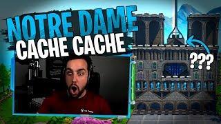 Embrouille dans la Team Croûton pendant ce Cache-Cache dans Notre Dame sur Fortnite Créatif !