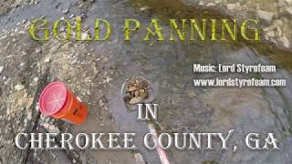 Gold Panning in Cherokee County, Georgia