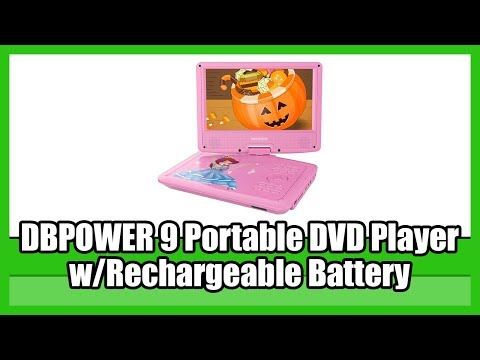 DBPOWER 9 Portable DVD Player With Rechargeable Battery   BEST Portable DVD Player For Kids   2019