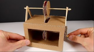 How to make a PULLEY MACHINE with cardboard at home