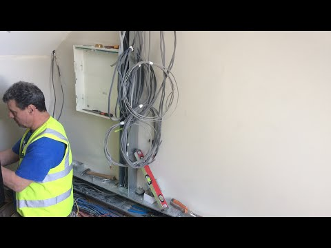 Electricians Day On The Job // Mains Room Preparation!!