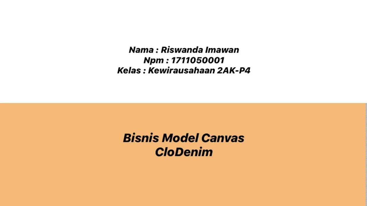 Bisnis Model Canvas - YouTube