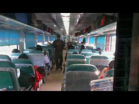 Ajmer Shatabdi Express full journey in Executive Chair Car :  India Tour.
