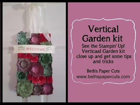 Vertical Garden Paper Succulents ~ Beth's Paper Cuts