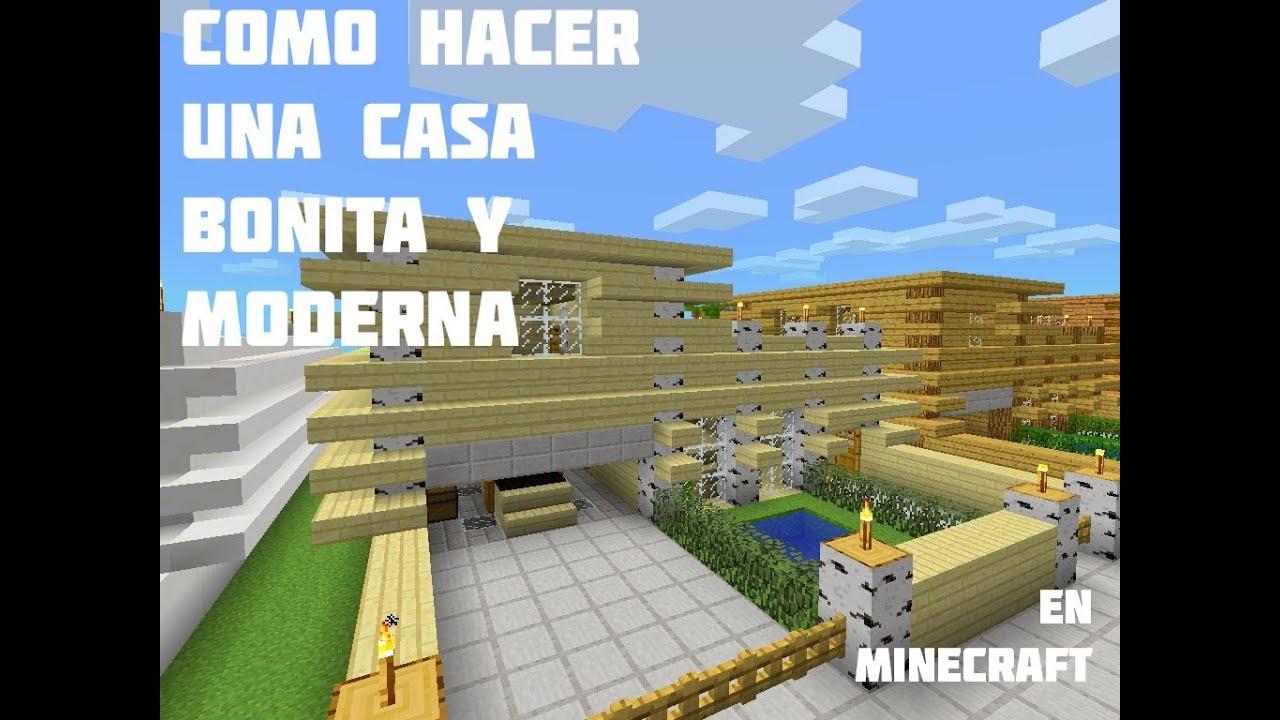Como hacer una casa bonita y moderna en minecraft pocket edition youtube - Como reformar una casa ...