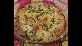 Простой рецепт запеканки из тертого сырого картофеля с сыром и чесноком