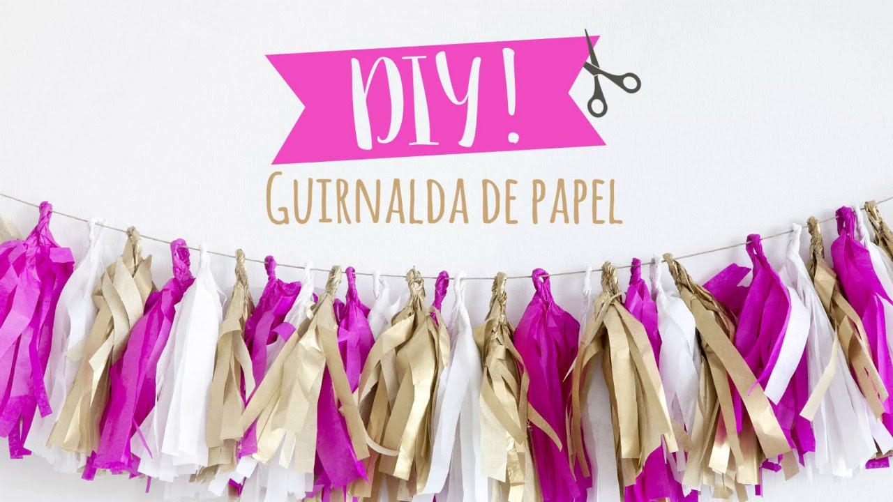 C mo hacer guirnaldas de papel de seda para tus fiestas - Como hacer cadenetas de papel para fiestas ...