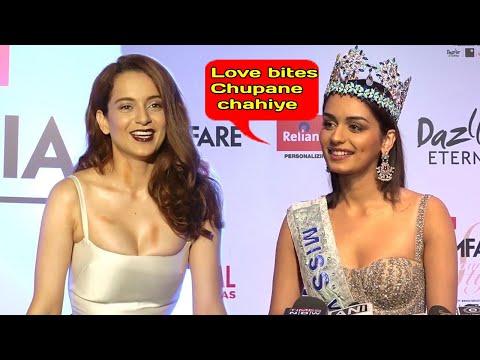 Kangana Ranaut's BEST Reply To Manushi Chillar For Winning Miss World 2017|Manushi Replies KANGANA