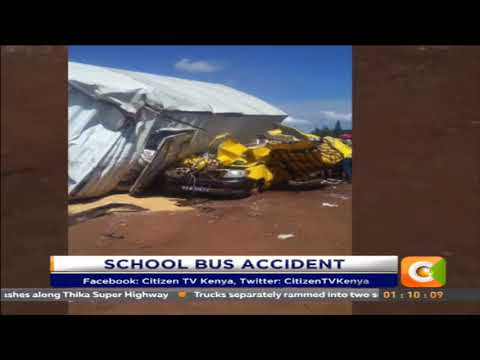 Police officer dead,12 Limuru school girls injured in grisly road accident at Juja weigh bridge