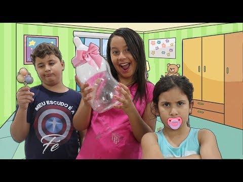 VIREI BABÁ POR UM DIA DA MARIA CLARA & JP ♥ Pretend Play a Nanny