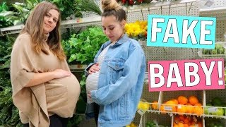 Pretending to be Pregnant in Public!