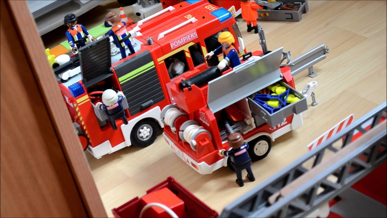 pompiers playmobil la serie 24 h au csp pisode 1 youtube. Black Bedroom Furniture Sets. Home Design Ideas