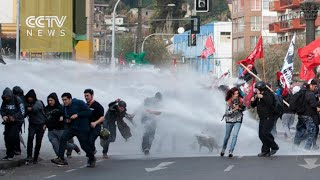 Clashes emerge as Chile's president seeks to shift focus to reform