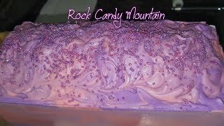 Making & Cutting Rock Candy🍬 Mountain 🗻cold process soap