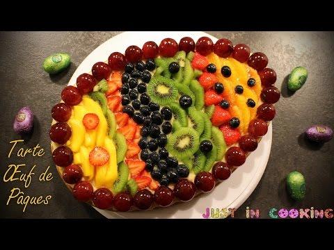 ❀-recette-de-tarte-aux-fruits-Œuf-de-pâques-❀