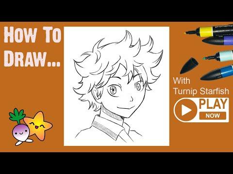 HOW TO DRAW Hinata From Haikyuu!! - Turnip Starfish