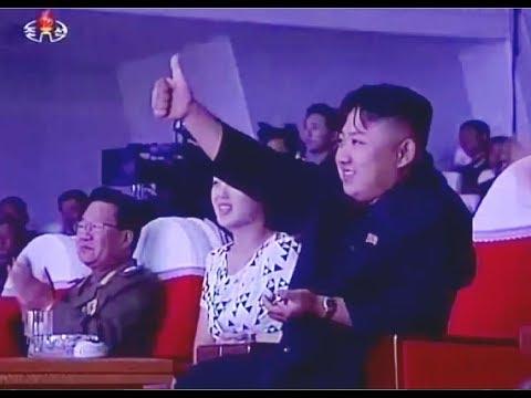 Kim Jong Un And Ri Sol Ju Enjoy Moranbong Performance - Song Of Coastal Artillery Women