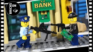 Lego ATM Bank Robbery Heist Lego City Police Brickfilm Catch the crooks Stop Motion Animation