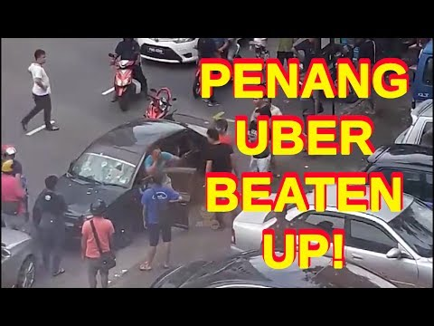 Penang Uber driver BEATEN up for molesting female passenger - INSTANT JUSTICE INSTANT KARMA