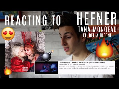 REACTING TO TANA MONEGEAU FT. BELLA THORNE- HEFNER (OFFICIAL MUSIC VIDEO)